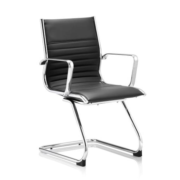 Ritz Black leather cantilever frame office meeting chair