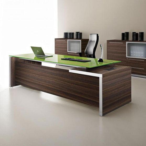 EOS Executive Desk in Pistachio