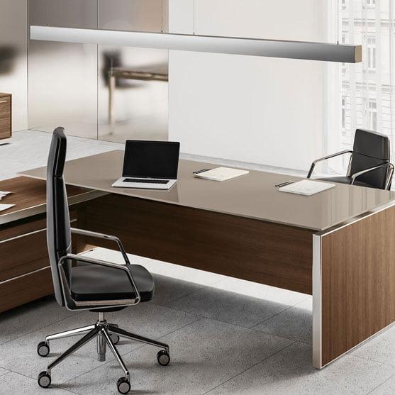 EOS Glass Executive Desk