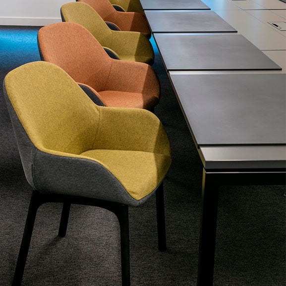 Norden wood frame office meeting chair
