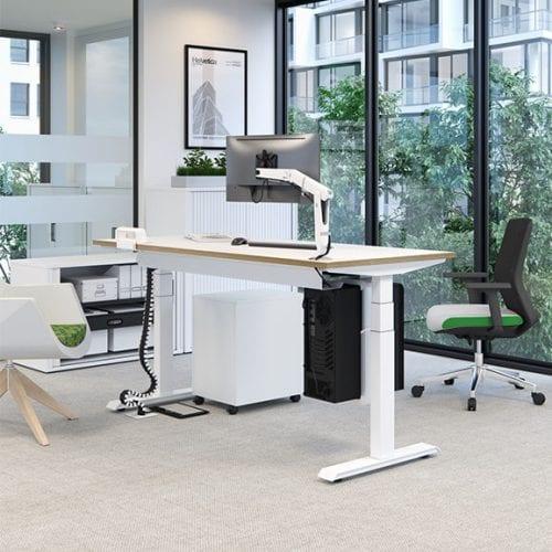 Single Progress Plus Height Adjustable Desk