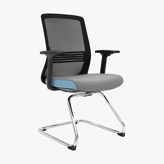 Vida mesh back cantilever frame office meeting chair with arms