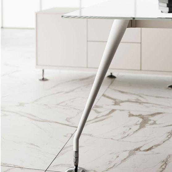 Enosi Evo Executive Glass white leg
