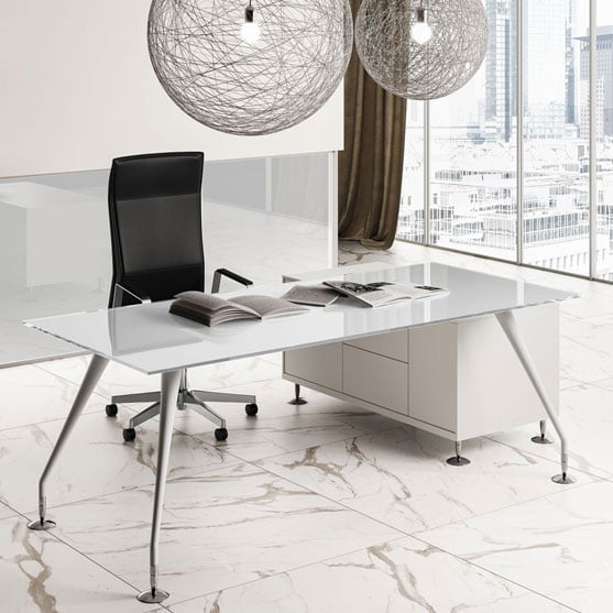 Enosi Evo Executive Glass in White