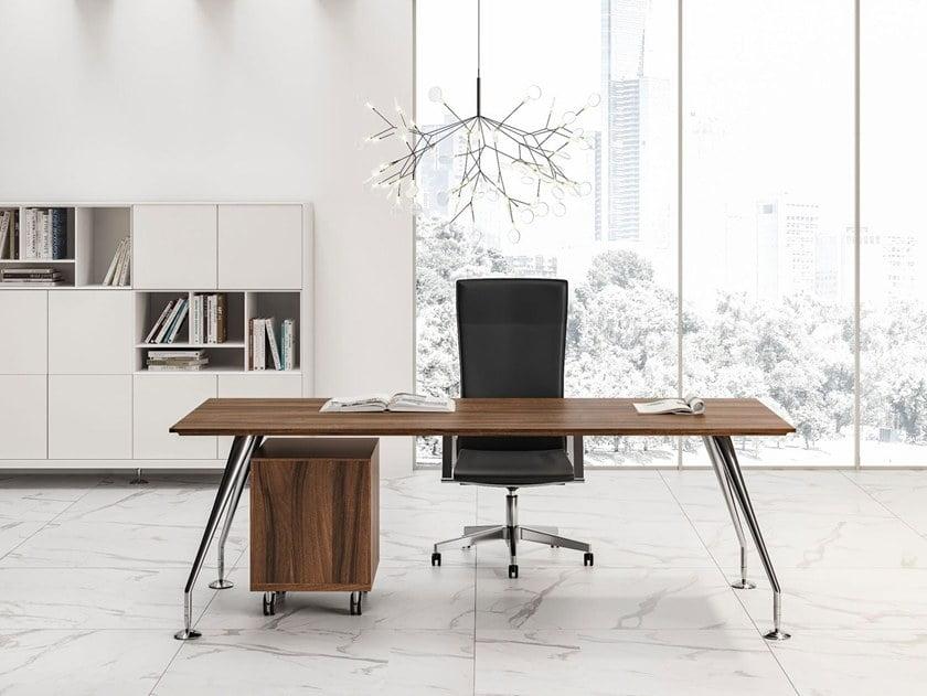 Enosi Executive Desk with Pedestal