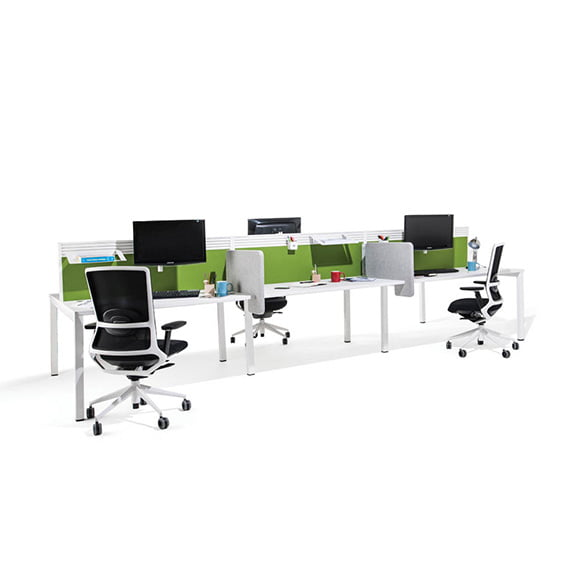 Era Border Desk Mounted Screen in Green