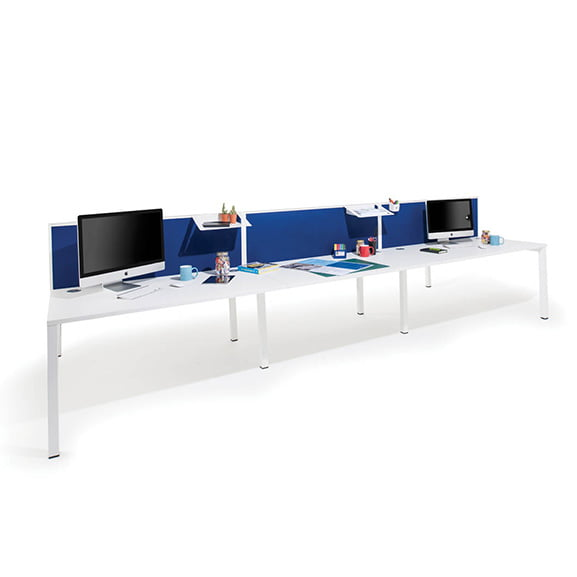 Era Border Desk Mounted Screen in Blue