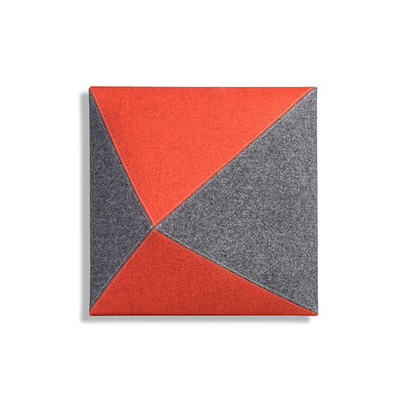 Red and Grey Carnival Wall Mounted Acoustic Panel Square Era