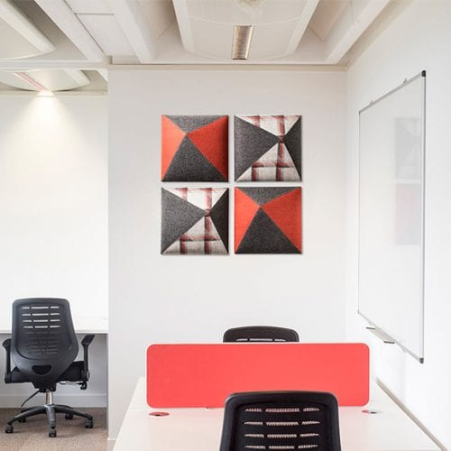 Set up of 4 Carnival Wall Mounted Acoustic Panel in Situe Era