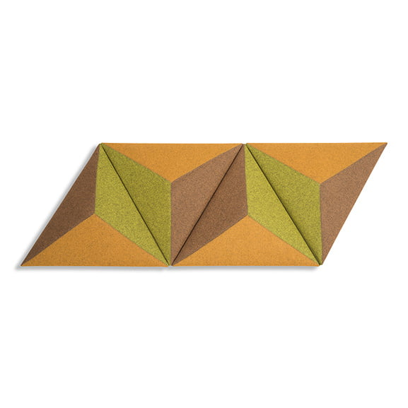Set of four Triangular Era Carnival Wall Mounted Acoustic Panel in yellow