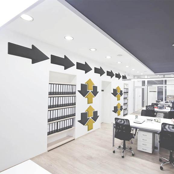 grey arrows eden wall mounted acoustic panel