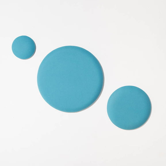 three blue circle eden wall mounted acoustic panel