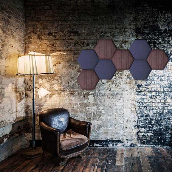 era eden wall mounted acoustic panel hexagon