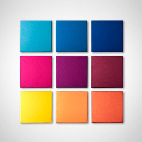 Square multicoloured eden wall mounted acoustic panel