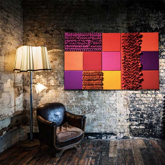era eden wall mounted square acoustic panel in situe