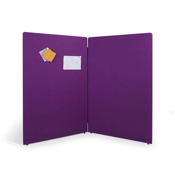 Purple Era Gemini Floor Standing Screens with Zip Detail