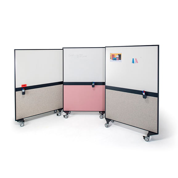 Era Motus Mobile Screen in Grey and Pink with Wipeboards