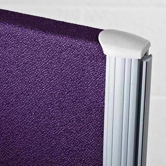 Purple One Series Floor Standing Screen in Purple Close Up of Trim