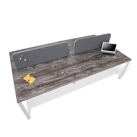 Era Pinch Desk Mounted Screen in Purple in Situe
