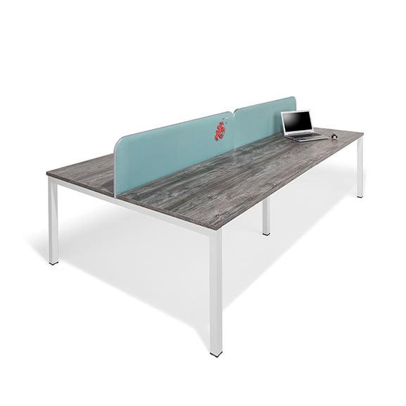 Blue Desk Mounted Screen in Blue