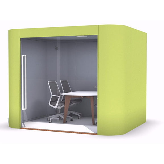 Frem oasis soft office pod green meeting