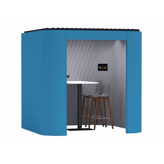 Oasis soft office pod blue high table