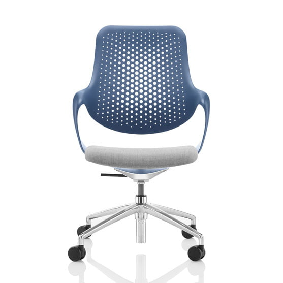 Coza Mesh Chair blue and grey