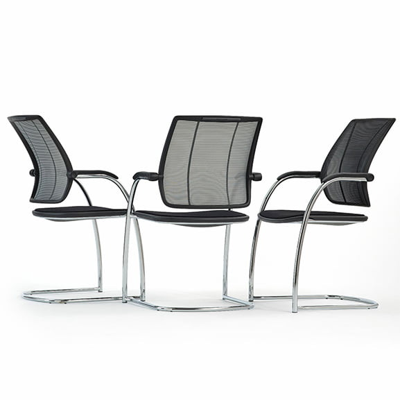Diffrient mesh back office meeting chair