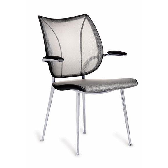Liberty 4 leg mesh back meeting chair