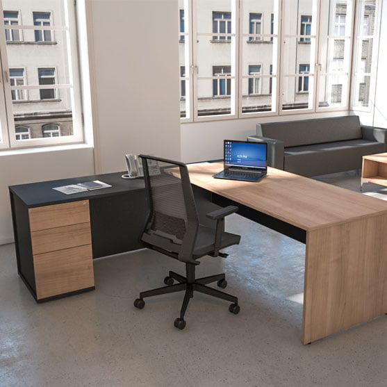 I Executive Desk in two colours