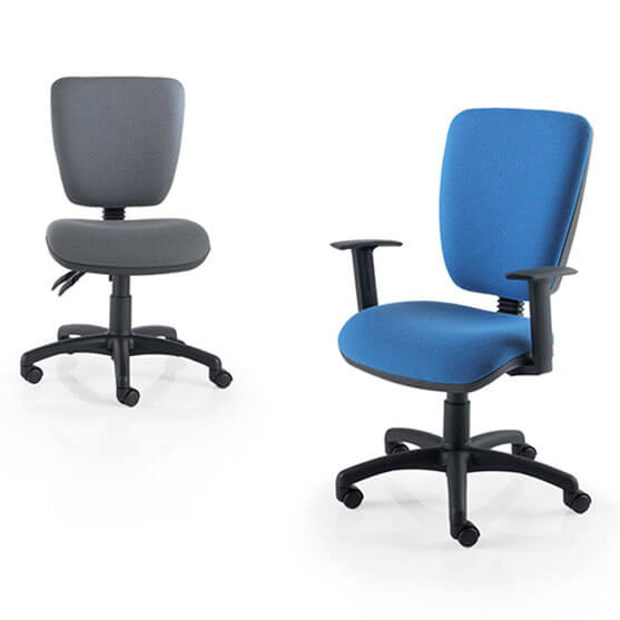 Icon Computer Chair in grey and blue
