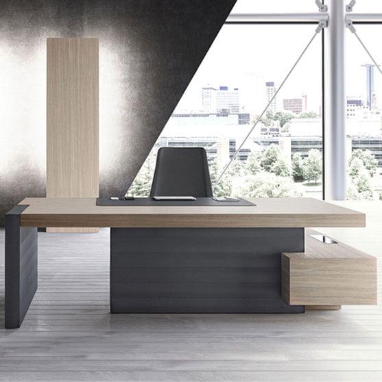 Jera executive Desk Open Modesty Panel
