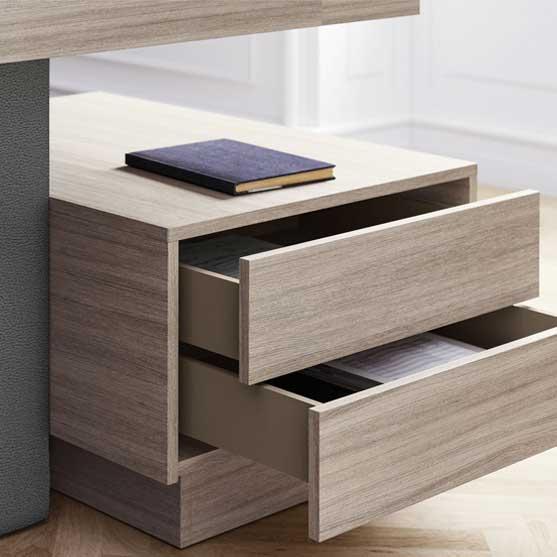 Details of Jera Executive Desk - drawers