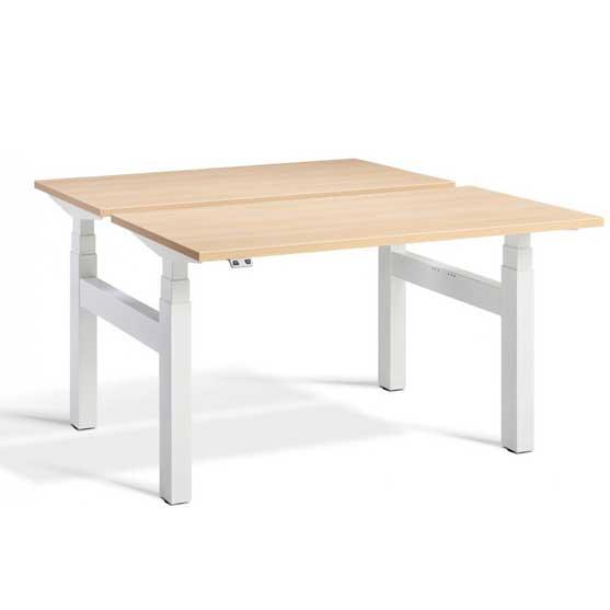 Lavoro White Oak Height Adjustable Desk