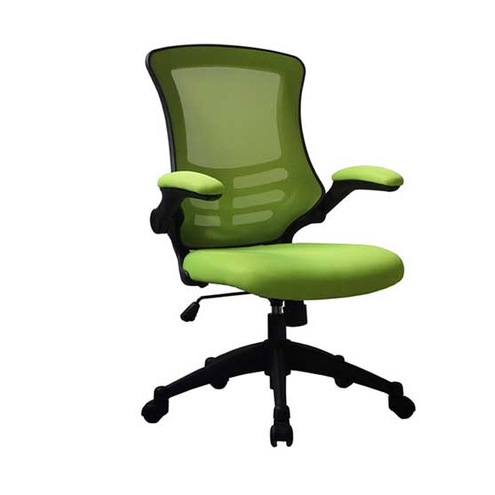 Luna Mesh Chair in Green with arms