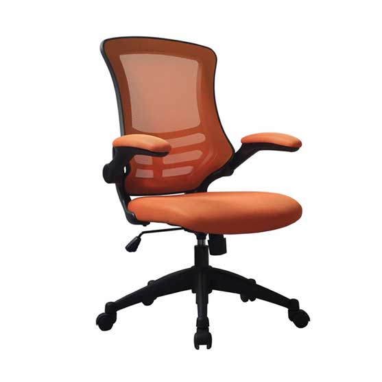 Luna Mesh Chair in Orange