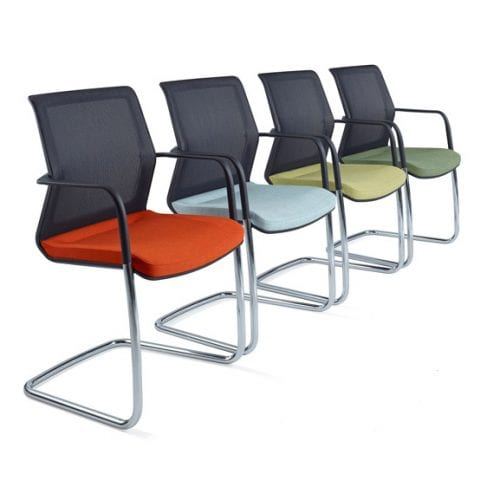 workday mesh back cantilever frame office meeting chair