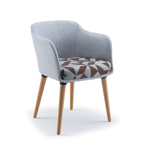 Cirque wood frame office meeting chair