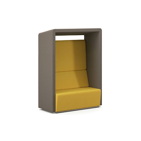 Pledge fifteen high back booth yellow and grey