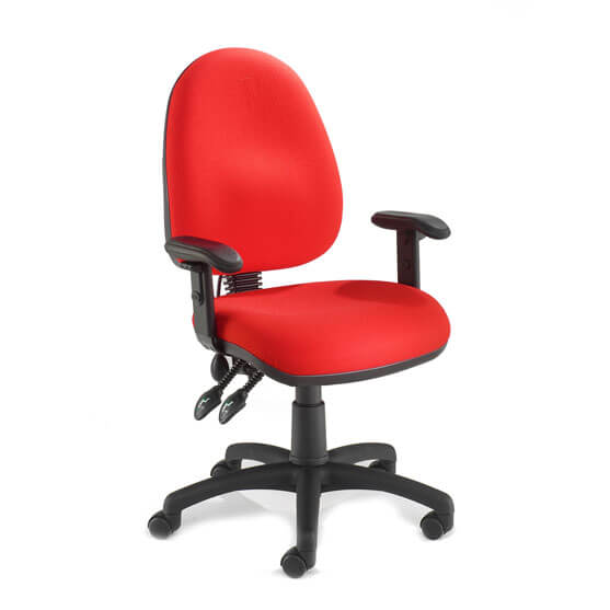 Pretorian Task Chair adjustable arms in red