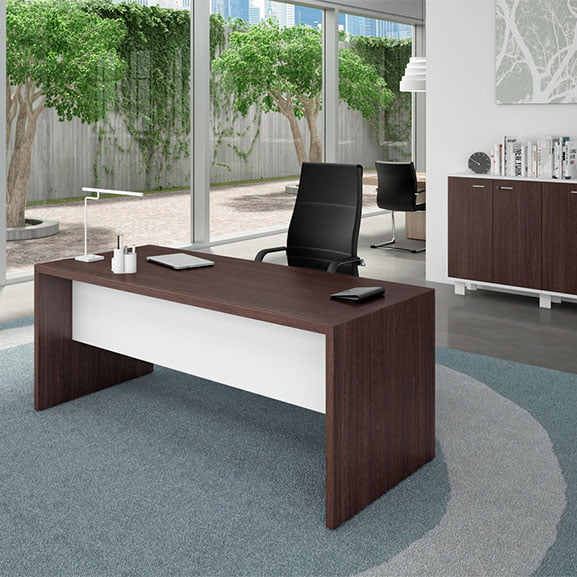T45 Straight Desk in Wenge