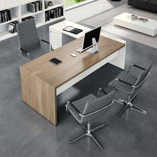 T45 Executive Desk OL-Elm Finish