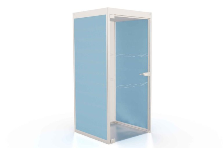 T1 Telephone Booth Boss in Blue with acoustic panels