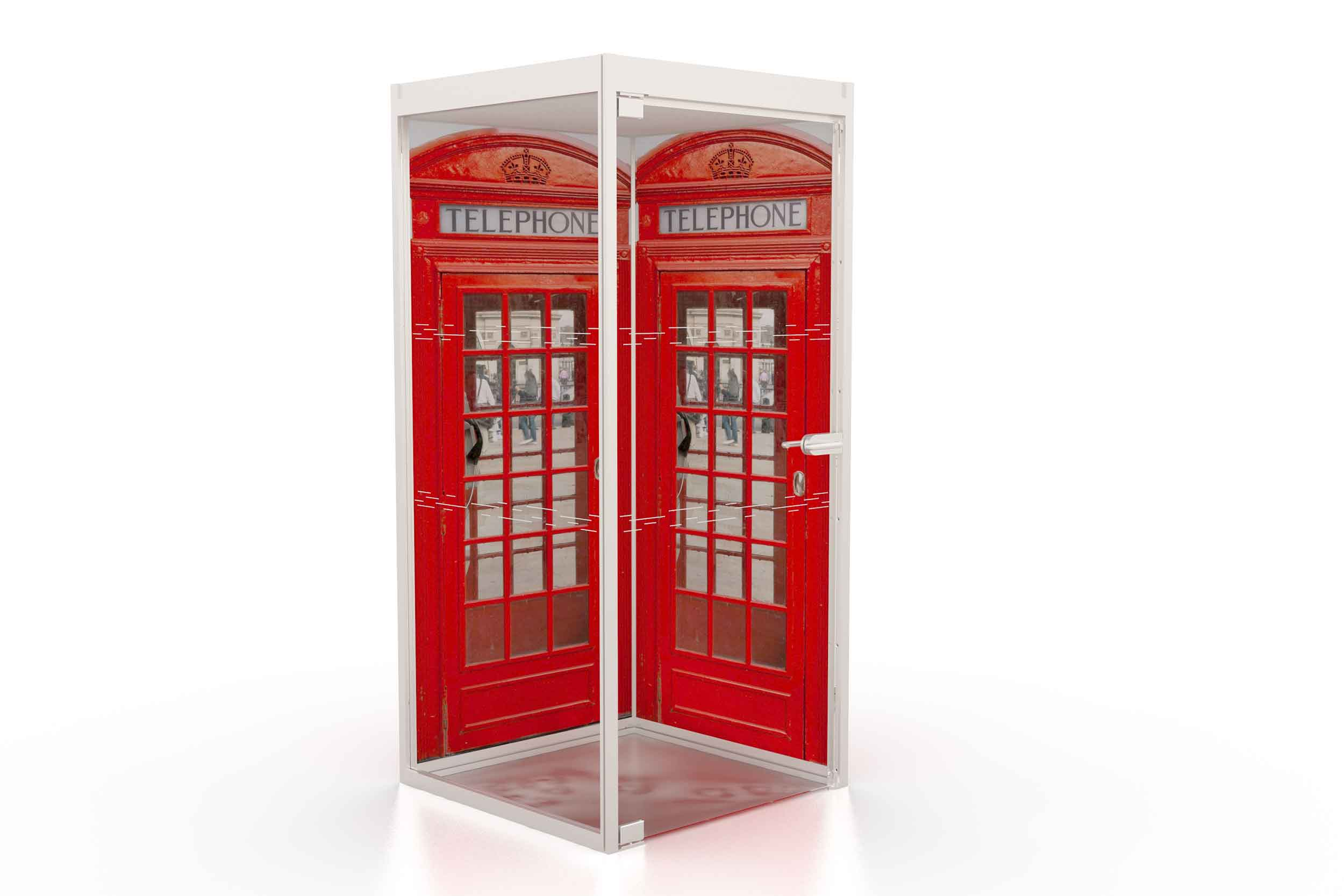 T3 Telephone booth boss red telephone box print