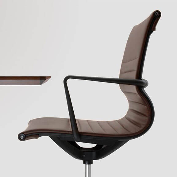 Verco Flux Faux Leather Brown with Black Armrests