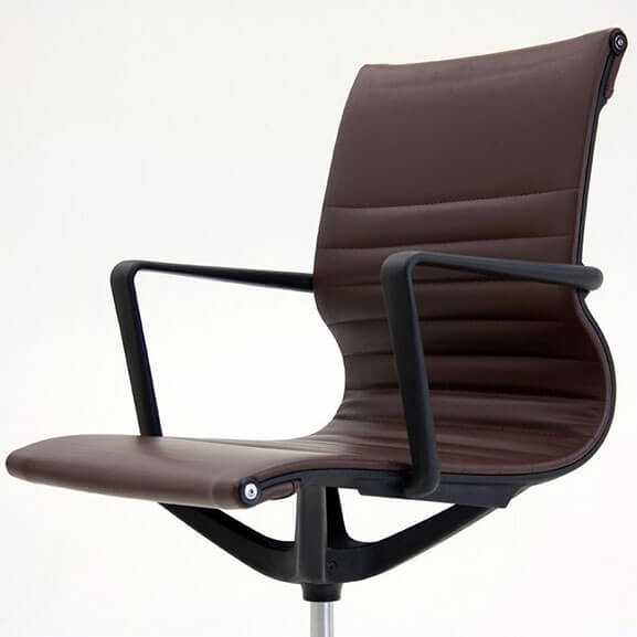 Brown faux leather flux leather chair verco