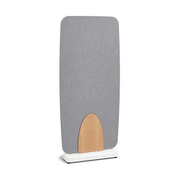 Tall Grey Soft Barrel Floor Standing Screen Verco