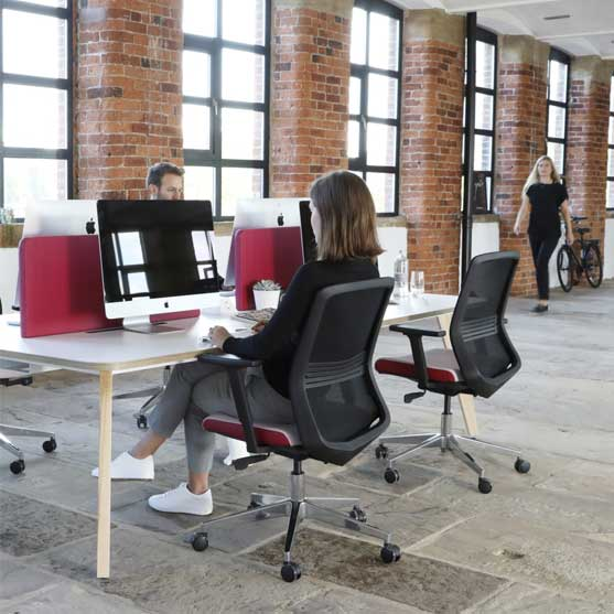 Vida Mesh Chair in use in an office