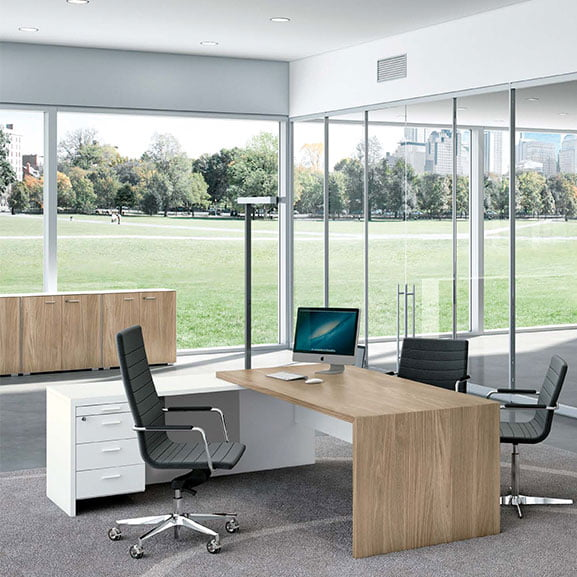 T45 Executive Desk shown in a modern office