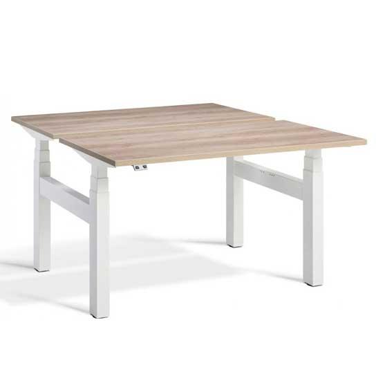 Lavoro duo white legs height adjustable desk